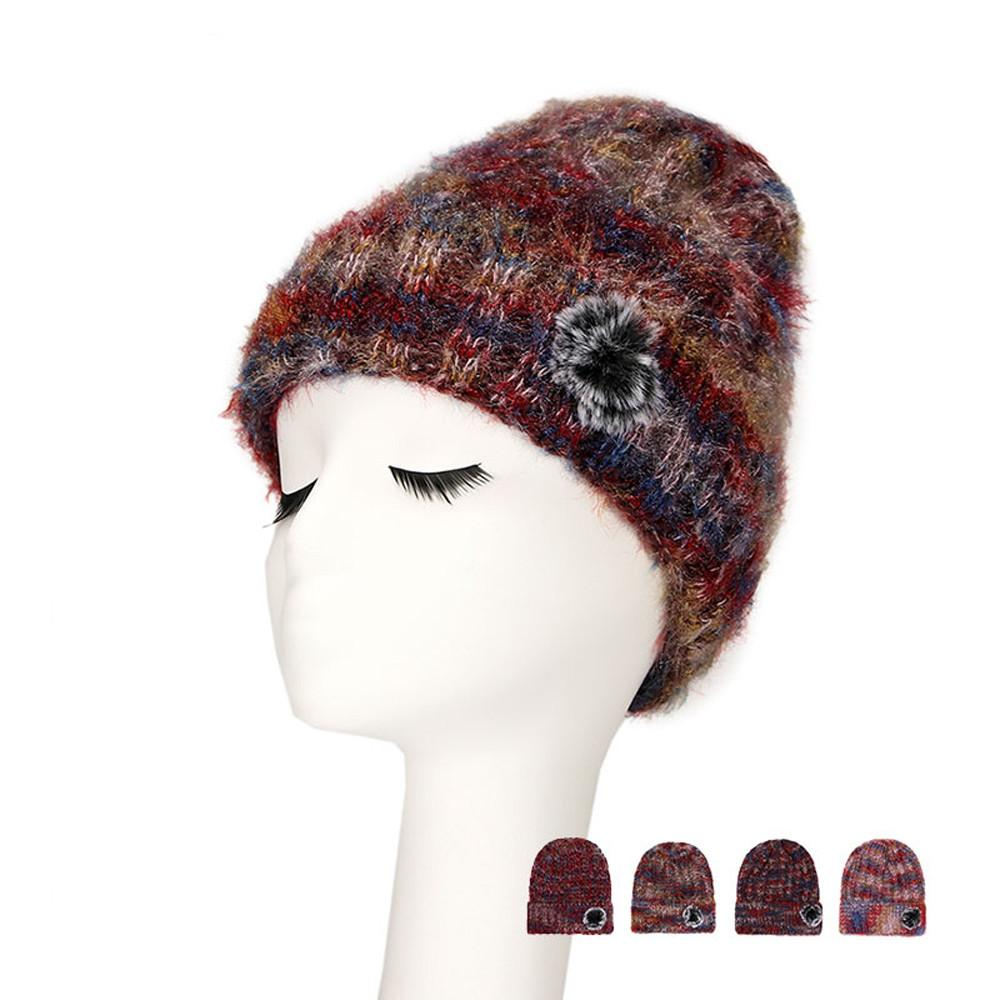 a10700e4d Fashion Women s Winter Wool Hat Thick Double-layer Warm Knitted Headgear  chapeu Sapka touca inverno feminina pompon gorras mujer
