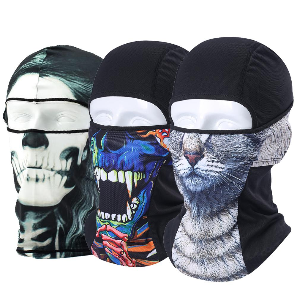 57091480a40c5 2019 3D Animal Balaclava Face Shield Combat Skullies Hats Cat Dog Skull  Neck Warmer Beanie Snowboard Bicycle Full Face Mask Men Women From  Portnice