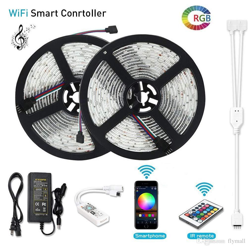 low priced 76e97 fd183 RGB LED Strip Lights WiFi Wireless Smart Phone APP Controlled Light Strip  Kit 32.8ft 300 LEDs 5050 Waterproof Working with Android/iOS Syste