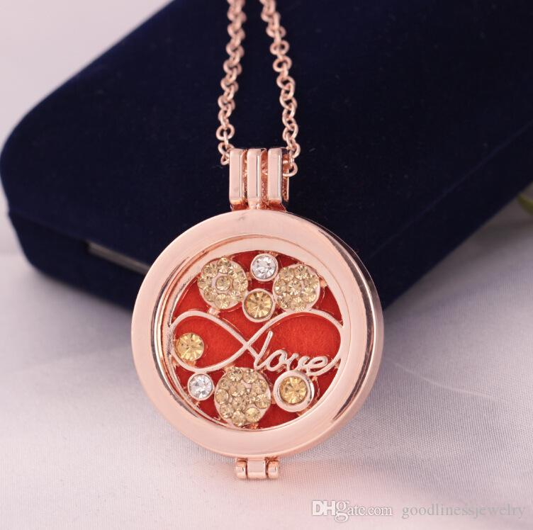 Aroma Diffuser Necklace Antique Vintage Perfume Essential Oil Aromatherapy Necklace Delicate Luxury Jewelry Open Locket charm Necklace