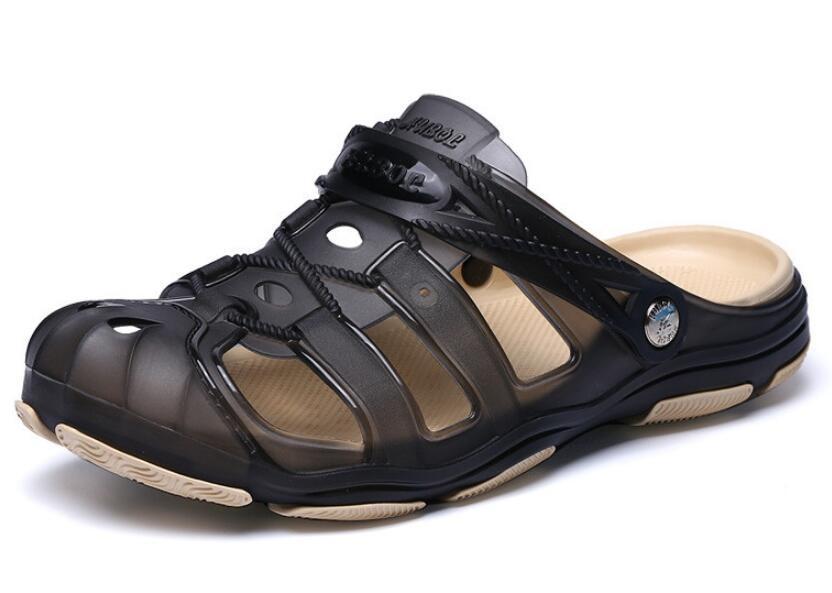 cc5a17a9e3dd New Arrival Men Summer Beach Slipper Breathable Water Sandals Male  Gardening Shoe Hollow Out Beach Flip Flops Jelly Sandals High Heels Shoes  Green Shoes ...