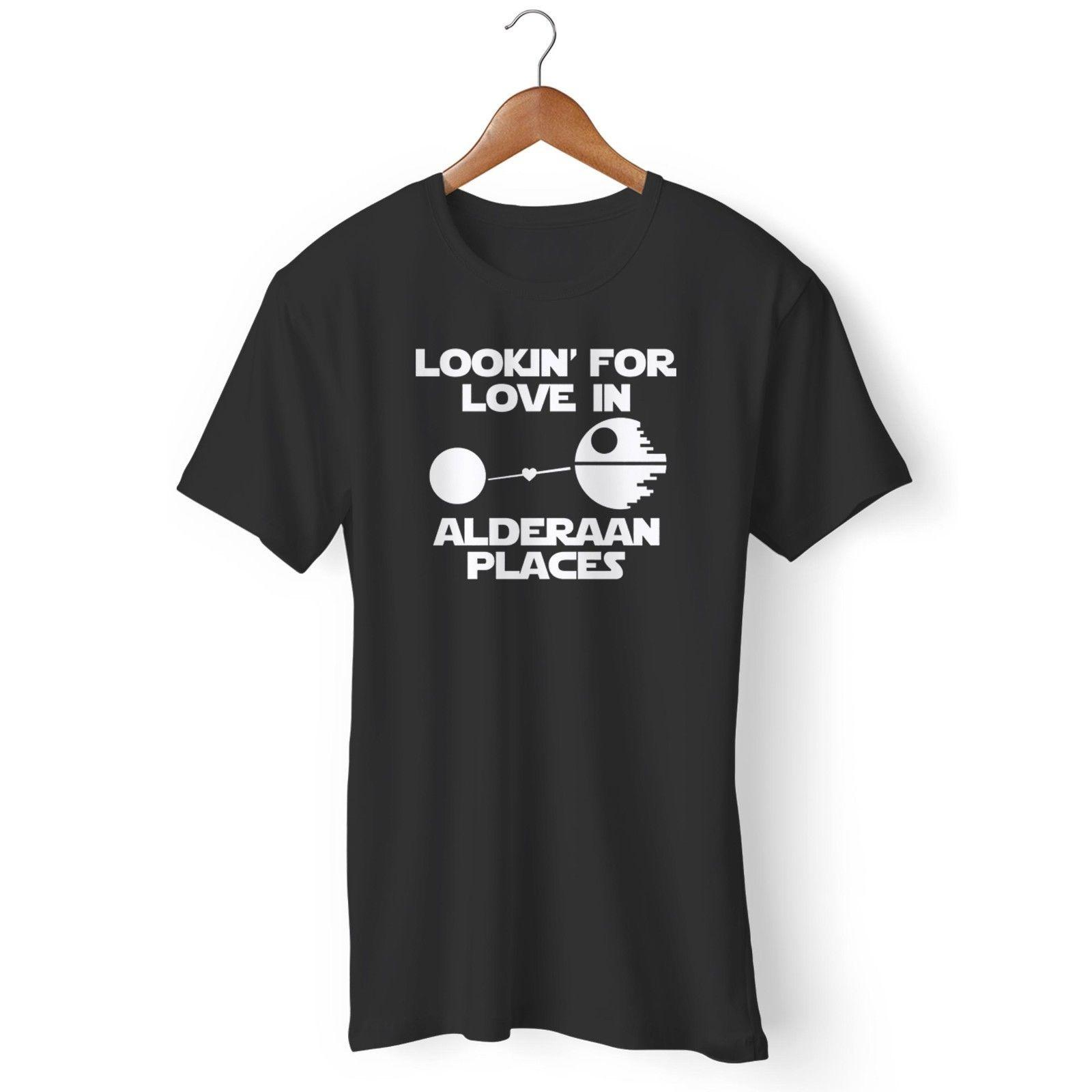 3d96ea1a Lookin For Love In Alderaan Places Funny Reddit Tu World Man's / Woman's T- Shirt Casual male tshirt men tops tees Free shipping tees
