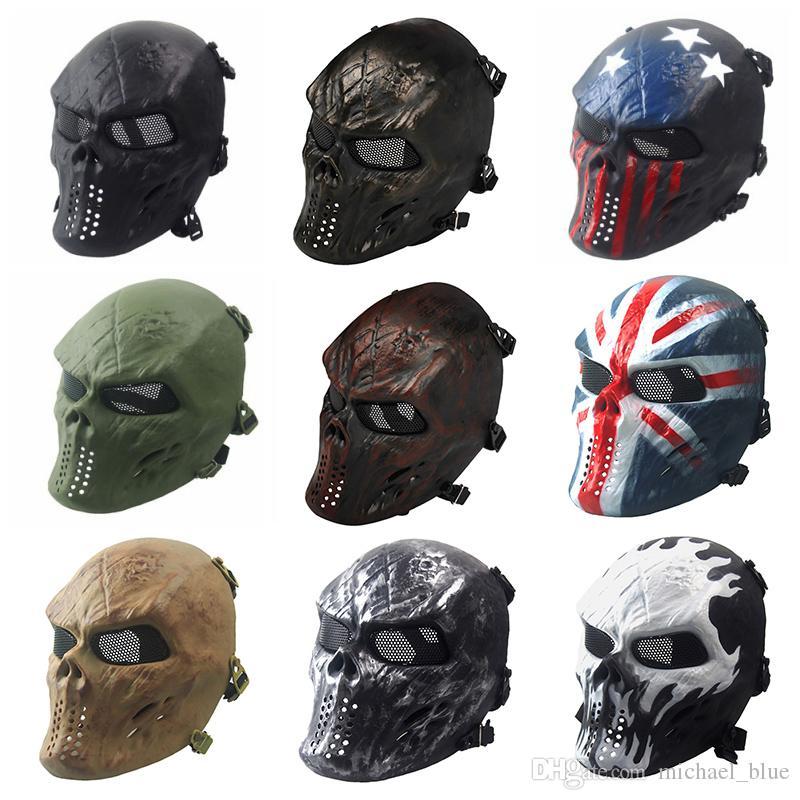 Halloween Chiefs M06 Маски Персонализированные CS Анфас Скелет Воина Игра Череп Маска Тактическая Страшная Маска Призрака