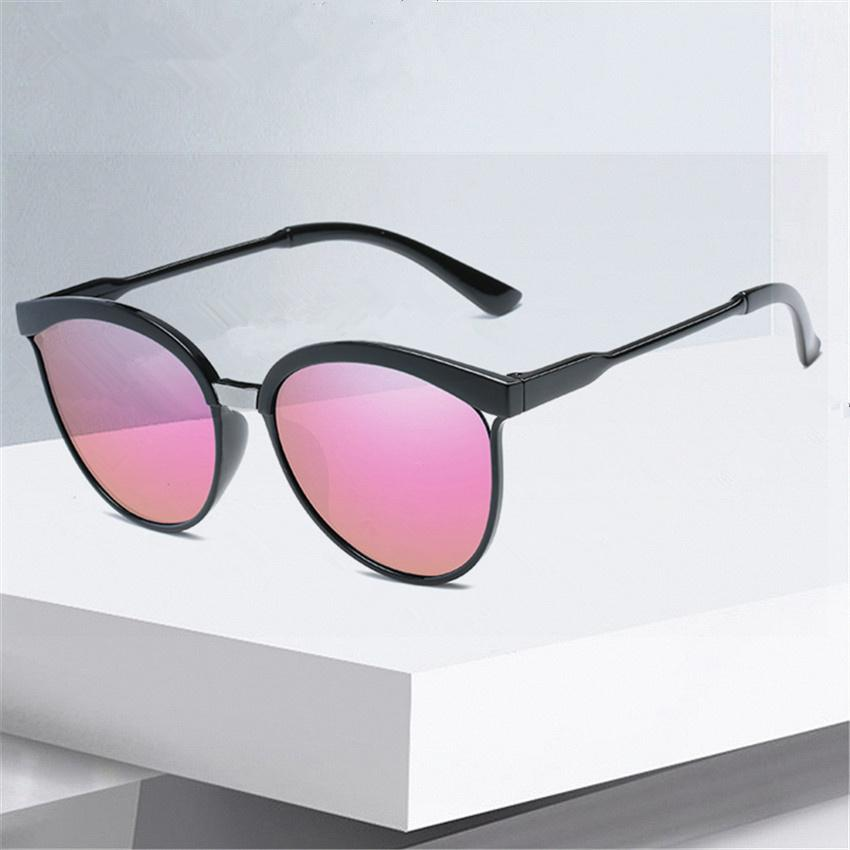 038e8b44fcd8 Cat Eye Sunglasses Women Fashion Retro Brand Designer Sunglass Men Vintage  Cheap Circle Glasses Mirror Shades Goggles UV400 Black Sunglasses Cycling  ...