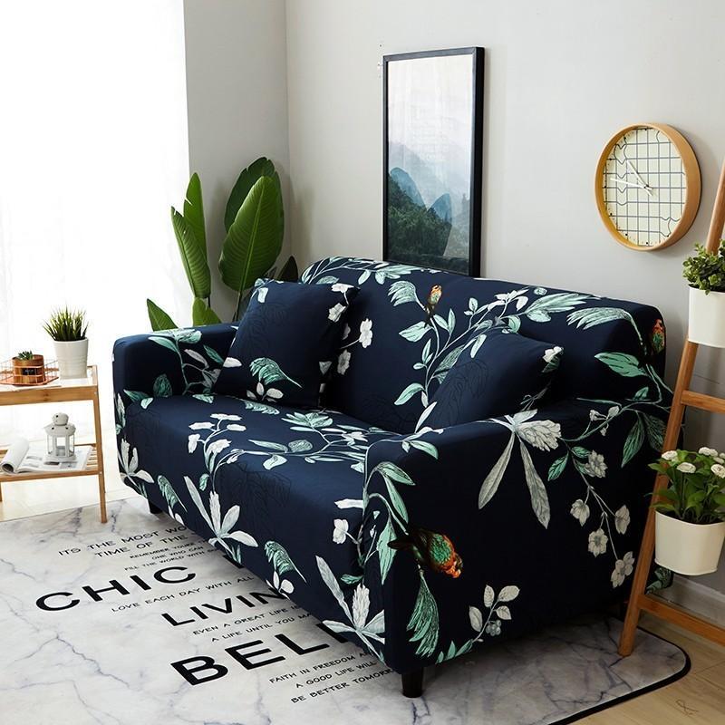 Flower Sofa Cover Flexible Stretch Big Elasticity Couch Cover Sofa ...