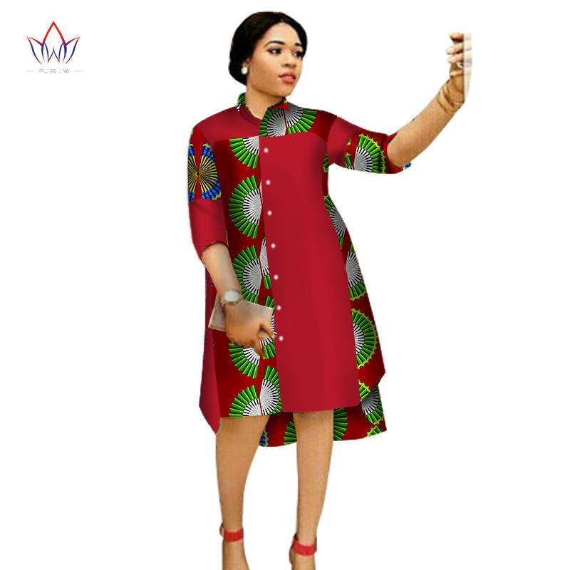 f2ea506808 2019 2017 Women Maxi Dress African Print Dresses For Women Three Quter  Sleeve Dress Print Clothing Plus Size 6XL BRW WY1756 From Buxue, $75.43 |  DHgate.Com