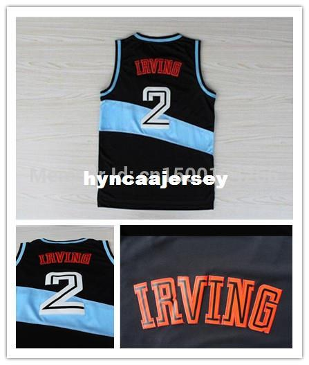classic fit 54df9 08426 Top Quality #2 Kyrie Irving Jersey Retro Jersey Black BLue Rev30 Basketball  Jersey , , Free Shipping! Ncaa