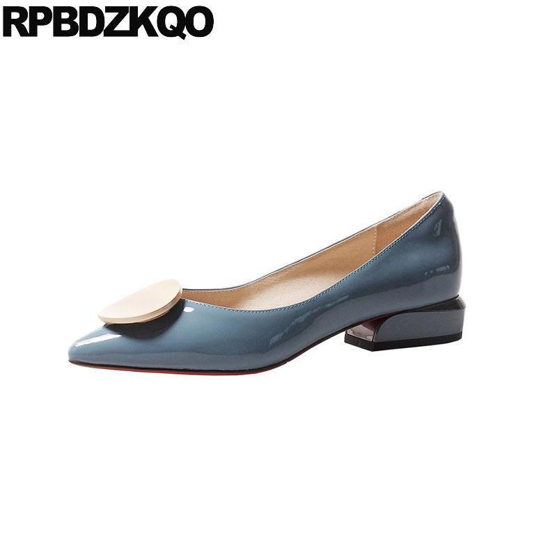 Sexy2019 Comfortable Designer Shoes China Ladies Flats Slip On Blue Pointed  Toe Latest Genuine Leather Chinese Patent Size 33 Women Shoes Mens Sandals  From ... a398b8110