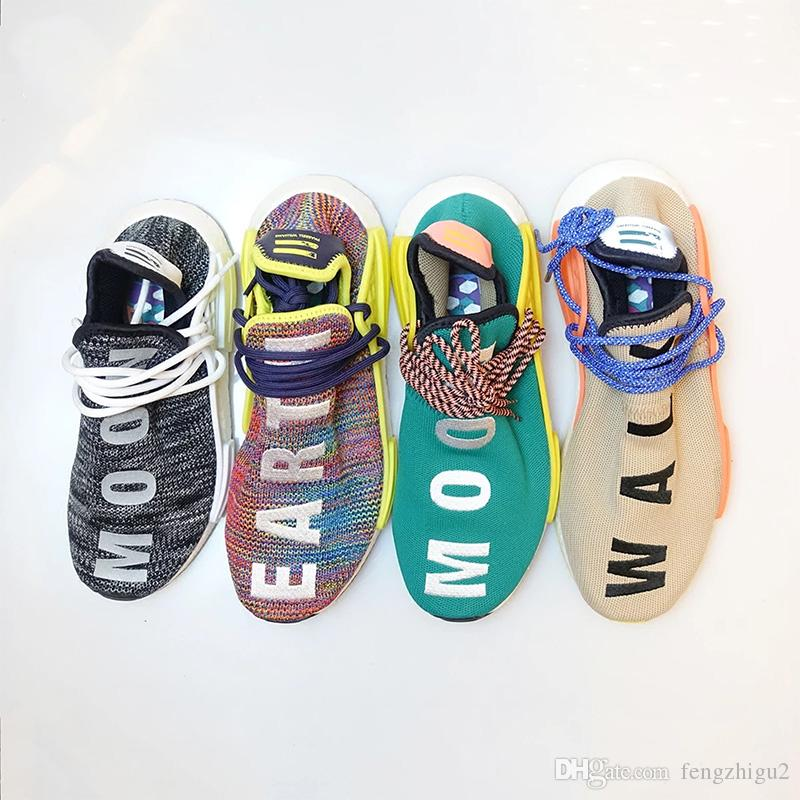 e87841a30b556 2019 TOP Human Race NMD Running Shoes Pharrell Williams Hu Trail Oreo Nobel  Ink Black Nerd Designer Sneakers Men Women Sport Shoes Men Running Shoes  Best ...