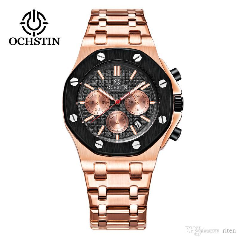 Compre OCHSTIN Relojes Para Hombres Marca De Moda De Lujo Para Hombres  Relojes De Cuarzo Multifunción Cronógrafo Hombre Relojes De Pulsera Hombres  Reloj A ... 4ca9eb864aaf