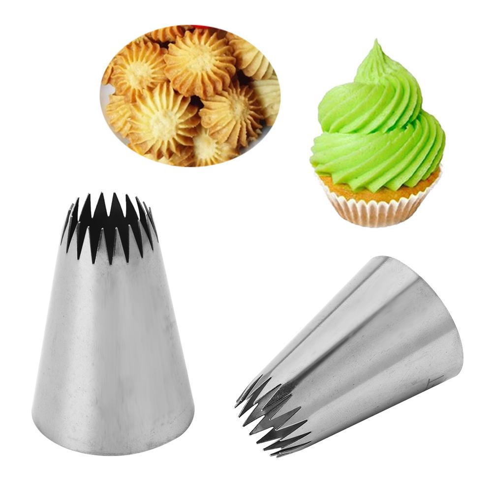 1PC Stainless Steel Large Flower Pattern Icing Piping Nozzle Russian Pastry Tip Cake Cupcake Bakeware Decorating Tool