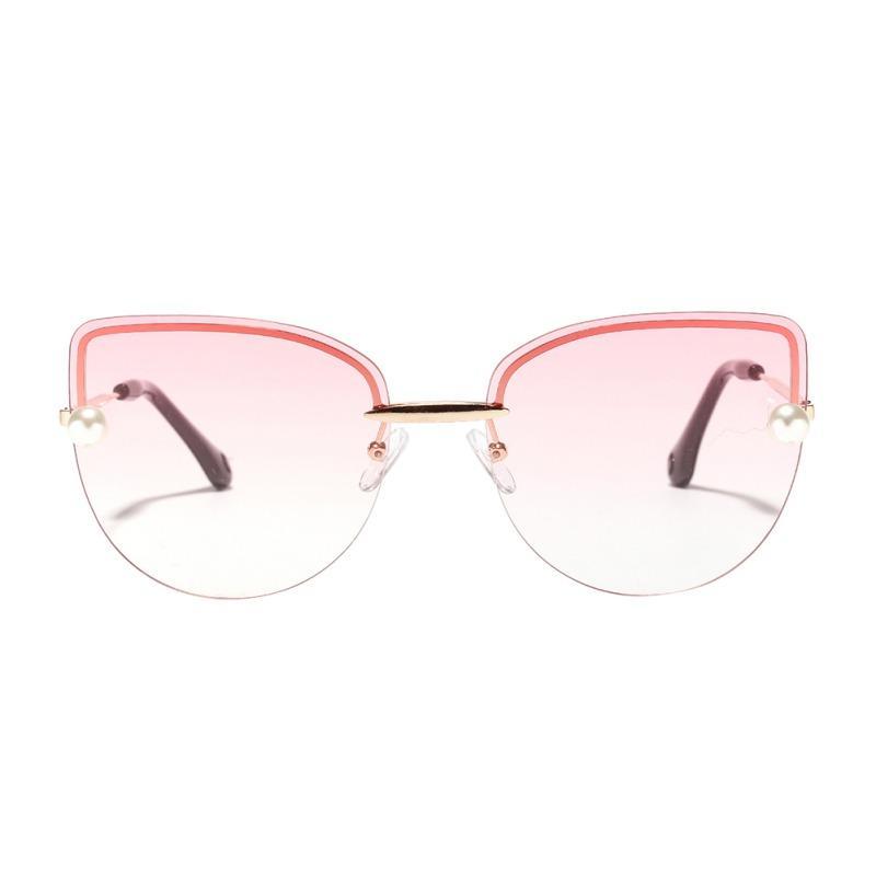 50c65e5f8f13e ... Cat Eye Frameless Sunglasses Big Frame Shades Clear Colored Lens  Festival Eyeglass Blue Pink Lens UV400 Suncloud Sunglasses Foster Grant  Sunglasses From ...