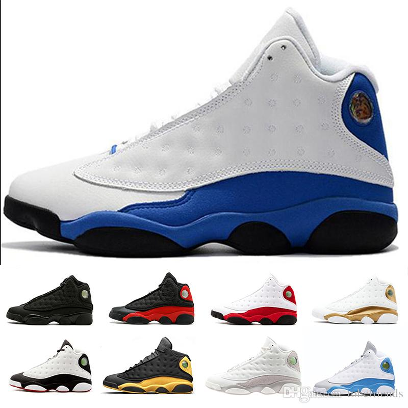 best service fe688 7b52a He Got Game XIII 13 Italy Blue 13s black cat Hyper Royal Chicago men  basketball shoes 13s bred Phantom sports Sneaker 41-47