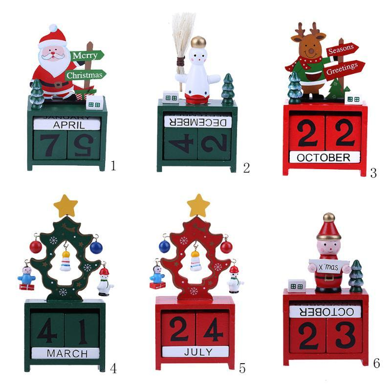 merry christmas advent calendar natal noel navidad gifts christmas decorations for home wooden calendar new year decoration unique christmas decorating