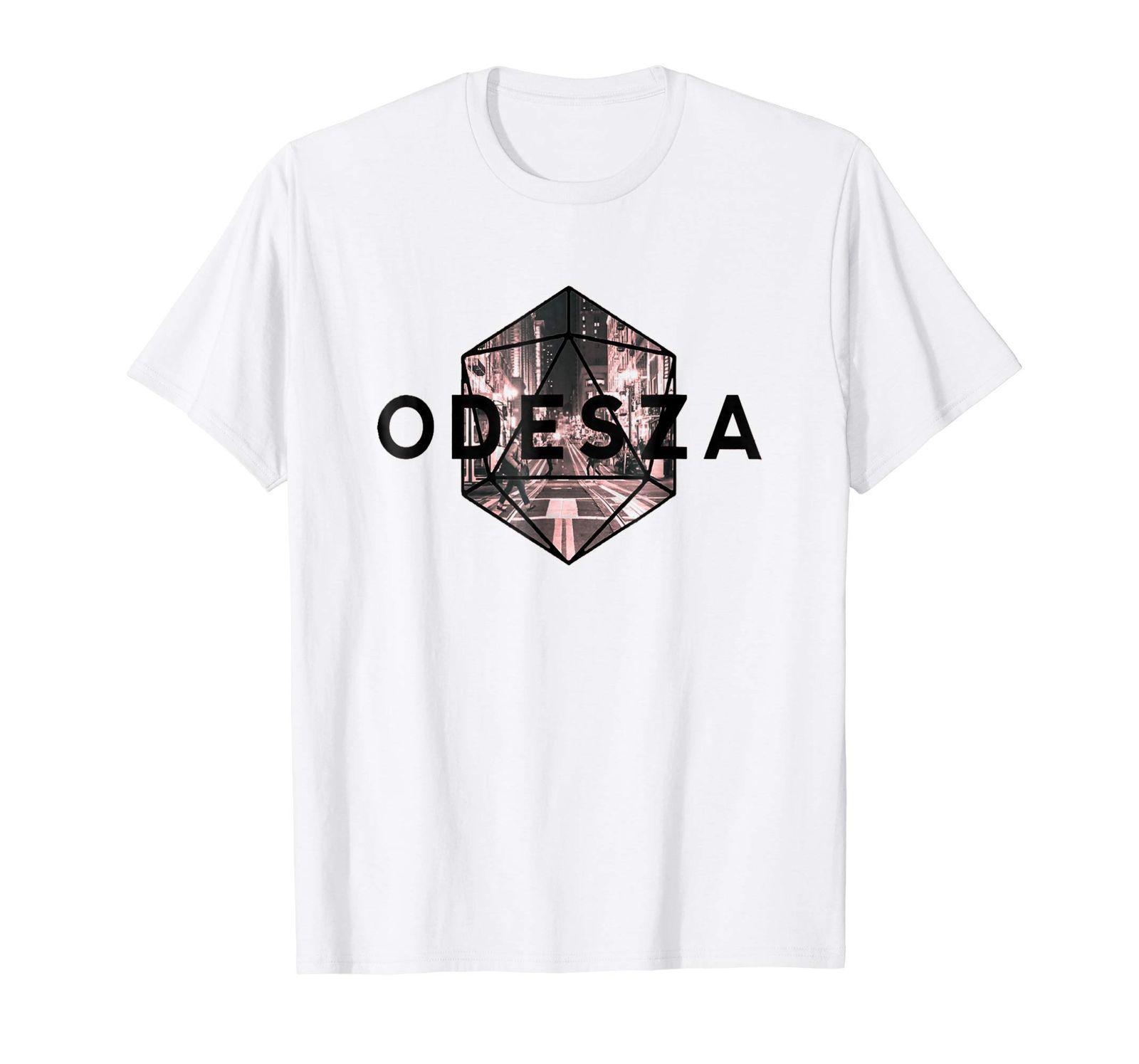 ODESZA American electronic music band White T-shirt 2018 Male Short Sleeve  Top Tee Free Shipping Summer Fashion t shirt