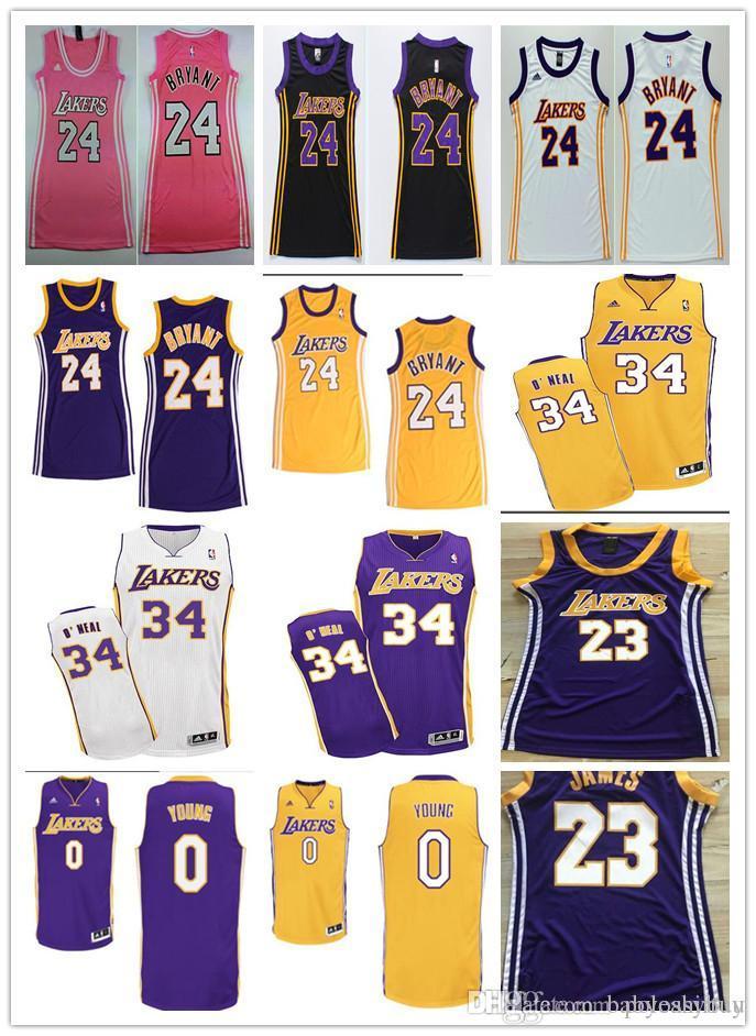 size 40 4d4c3 d277d Hot T-shirt 24 kobe 23 LeBron 34 O neal vintage women s basketball nets  jersey