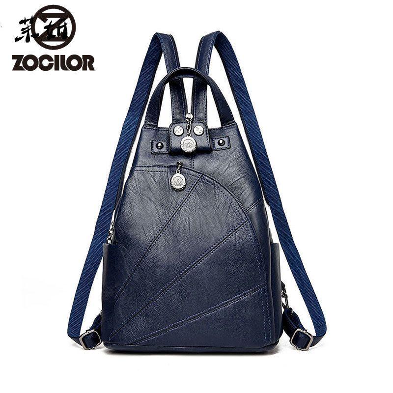 a04704fa0f62 2019 New Fashion Women Backpack High Quality Youth Leather Backpacks For  Teenage Girls Female School Shoulder Bag Bagpack Mochilawct79855