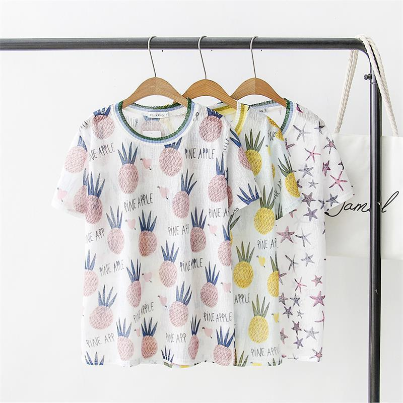 203a28f7 Oversized Plus Size Short Sleeve Women T Shirt Nice Pineapple Star Print T  Shirt Women Tops Casual Tshirt Summer Tee Shirt Femme T Shirt Shirt Awesome  T ...