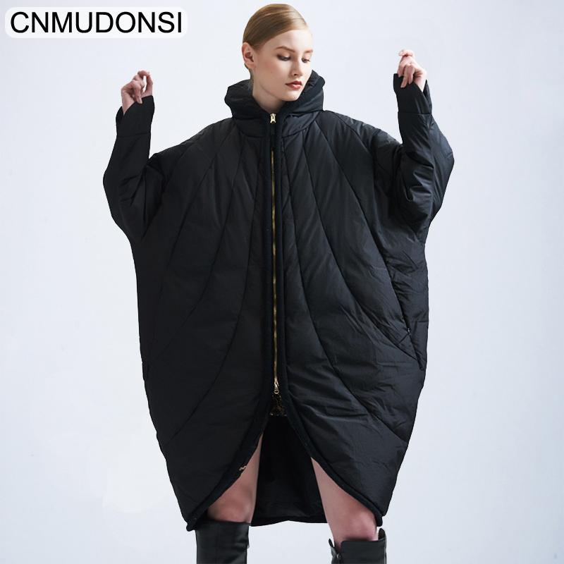 2019 New Arrival Women Down Jacket Winter Fashion Cloak Style Loose