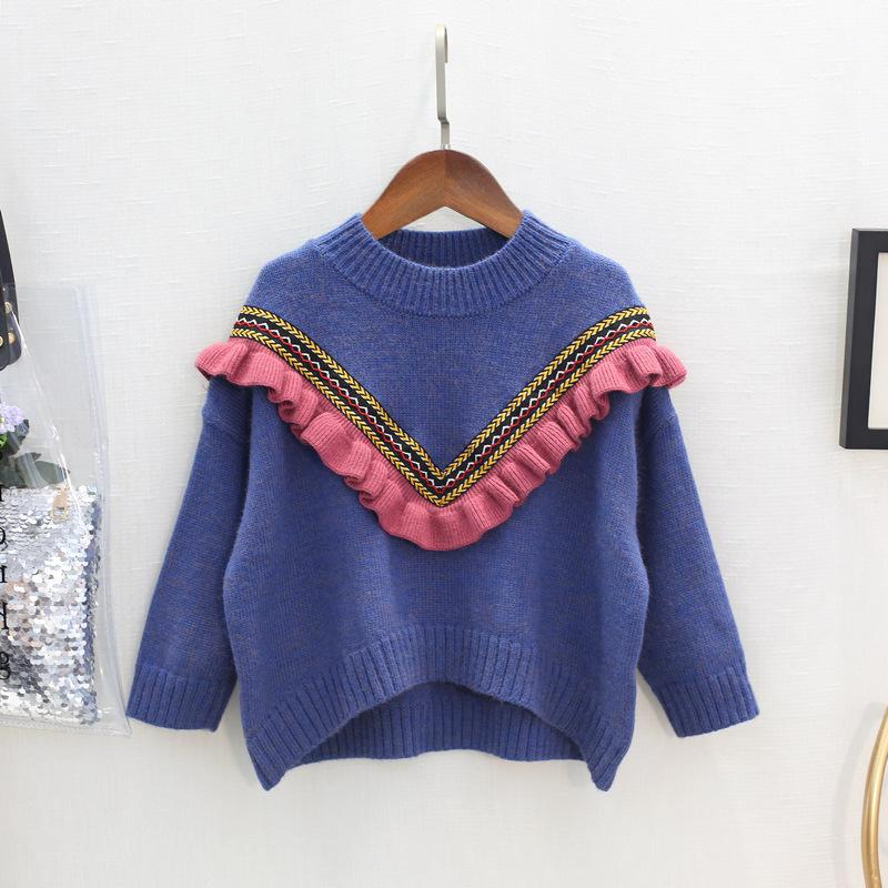 14c47a27c WLG Girls Spring Autumn Loose Sweaters Toddler Girl V Pattern Knitted  Cardigan Baby Casual All Match Clothes Children 2 6 Years Free Knitting  Patterns For ...