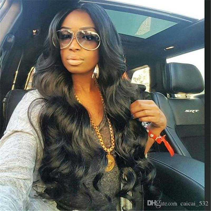Natural Black Body Wave Full Lace Human Hair Wigs Brazilian Remy Lace Front Wig Pre Plucked Wigs With Baby Hair Glueless