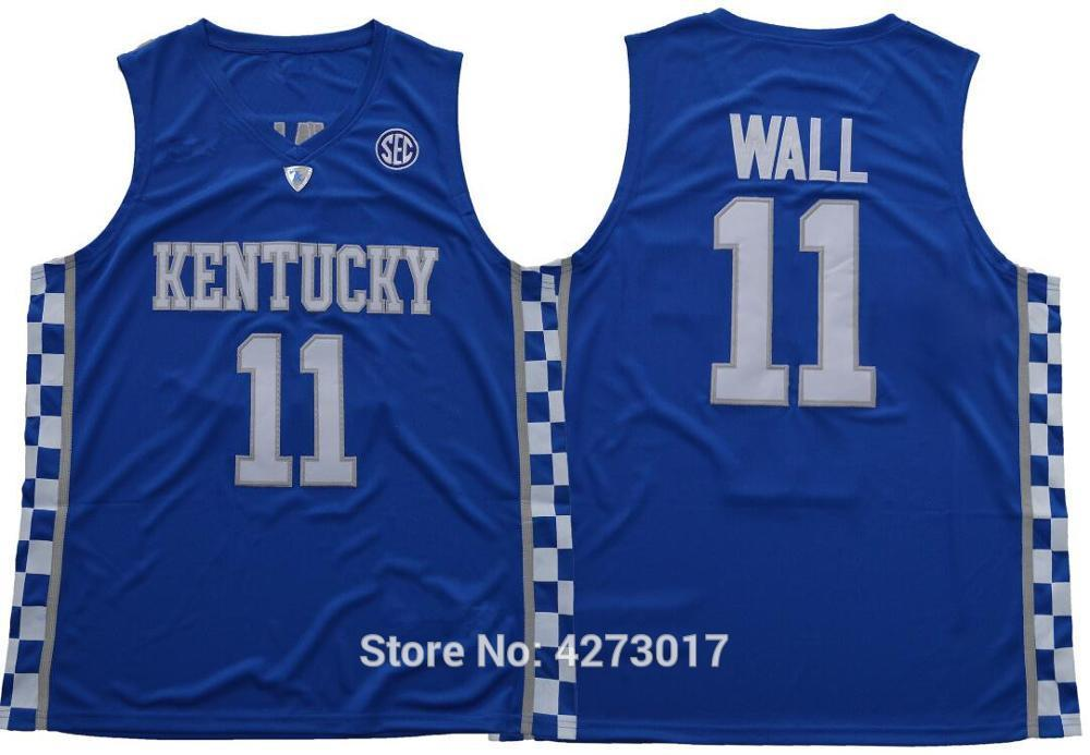 online store 91ebe 9ae4e 2019 Mens College 11 John Wall Jersey Men Breathable Kentucky Wildcats Wall  Basketball Jerseys Color Blue White Ncaa From Ckj2017,  20.37   DHgate.Com