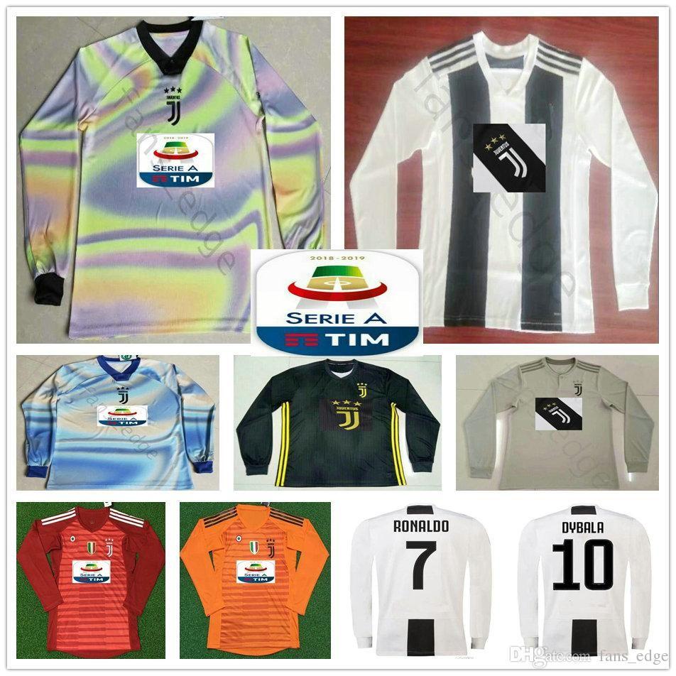 super cute a8289 4517d 19 20 Juventus Long Sleeve Soccer Jerseys 7 RONALDO 10 DYBALA MANDZUKIC  PJANIC MATUIDI Custom home away third 2019 football Shirt uniform