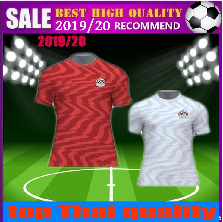 wholesale dealer 3f0dc 19040 new 2019 Egypt soccer jersey 19 20 M. SALAH Home Red KAHRABA A. HEGAZI  RAMADAN national team footbal uniforms jerseys shirts