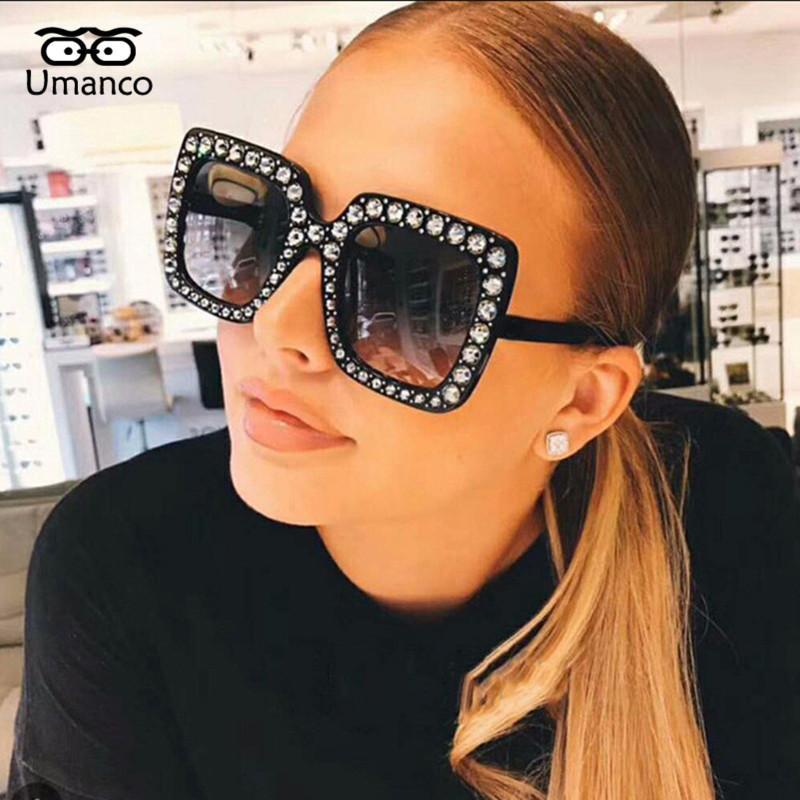 5f32c1d72c Compre Umanco Gafas De Sol De Diamantes De Imitación De La Vendimia ...