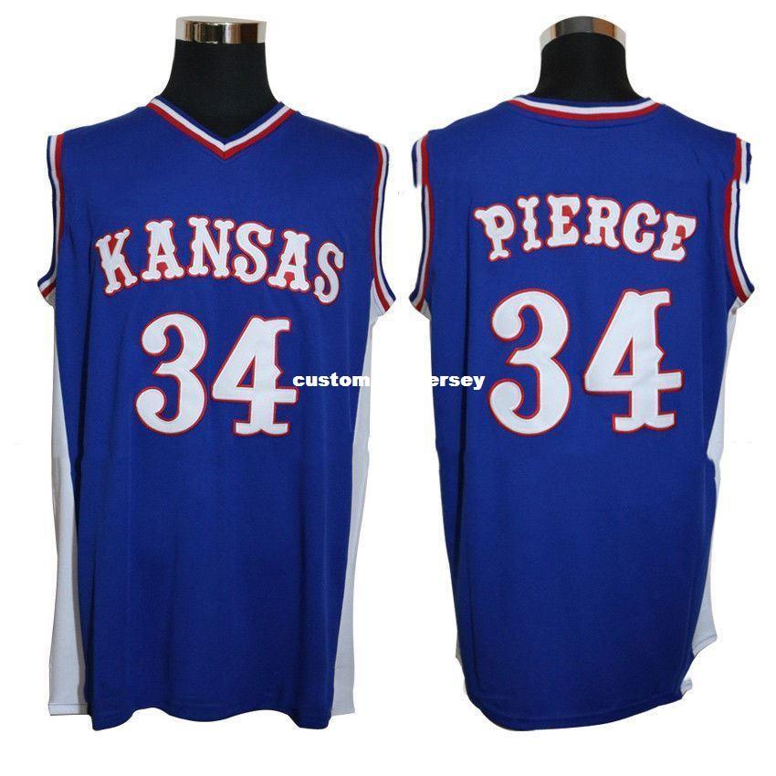 4064af1b990 2019 Cheap Custom Paul Pierce #34 Kansas College Men Swingman Basketball  Jersey Blue Stitch Customize Any Number Name MEN WOMEN YOUTH XS 5XL From ...