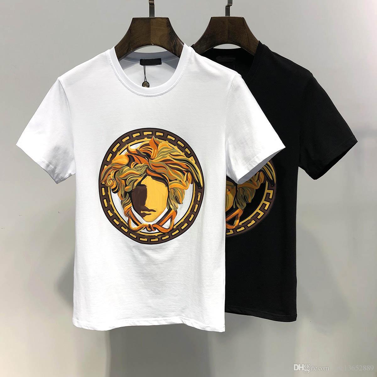 Compre 2019VERSAC Diseñador De La Marca De Moda De Lujo Camiseta Hip Hop  Ropa Para Hombre Blanca Camisetas Casuales Para Hombres Con Letras Impreso  Tamaño ... 1f8b428b6e4e1