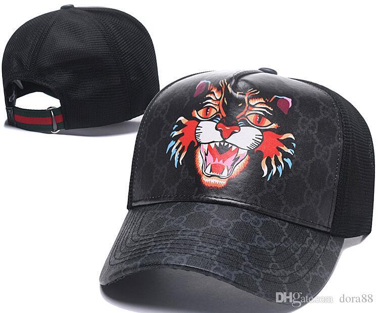 bd74de97acb 2018 Designer Mens Baseball Caps New Style Tiger Head Hats Gold ...