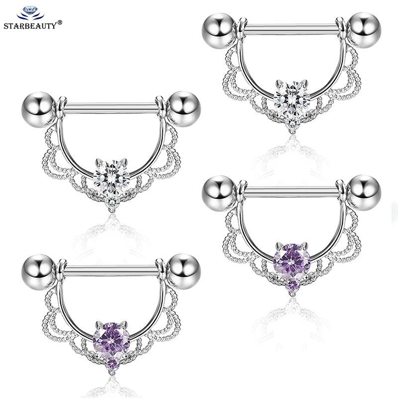 Edelstein Nippel Ring Ohrring Stahl Barbell Piercing Schmuck Percing Zunge Ring Studs Barbell Bars Ring