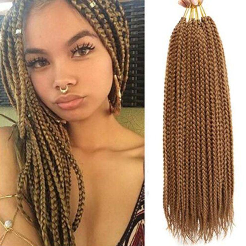2019 3 Packs 141822 Box Braids Crochet Hair Synthetic Hair