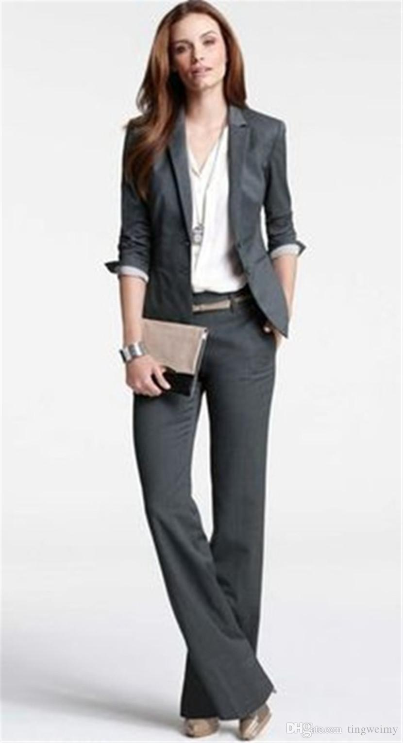 New Fashion Women Business Suits Formal Office Work Pants Suits Plus ...