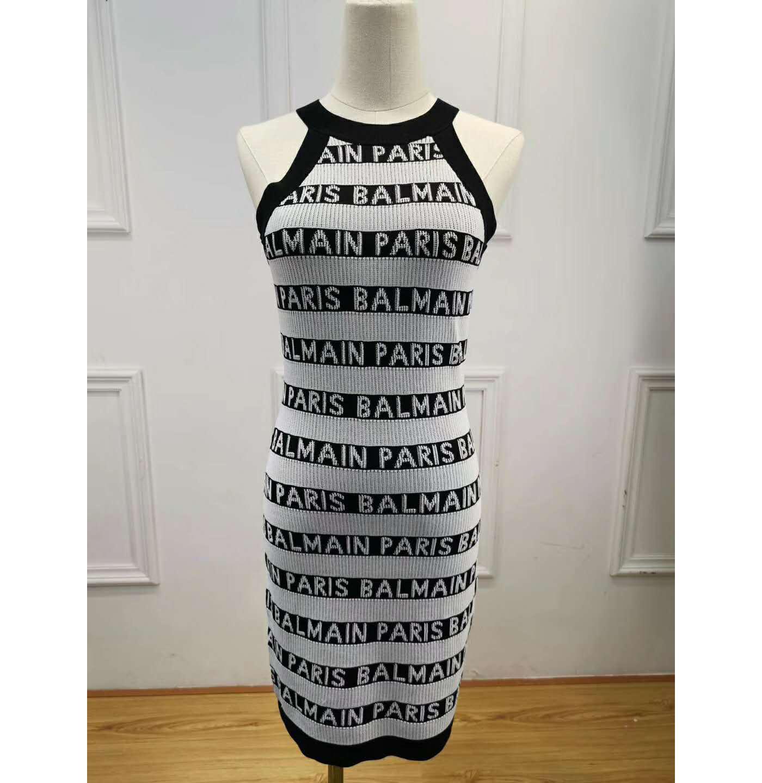 4584ad43b Compre Vestidos De Diseñador Para Mujer Vestidos Ajustados De Alta Calidad  De Verano Sexy Sin Mangas Con Cremallera Vestido De Lujo Vestido De Mujer A  ...