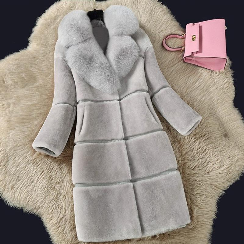 5a1f8fc1c82 Sheep Shearing Cashmere Coats 2018 Autumn Winter Long Overcoat of ...