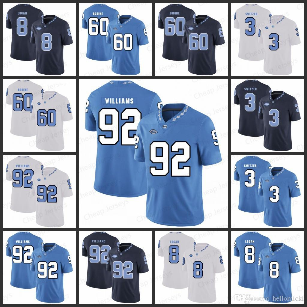 sale retailer 9d47b 8765a Mens North Carolina Jerseys 60 Russell Bodine 3 Ryan Switzer 92 Sylvester  Williams 8 T.J. Logan All stitched College Football Jersey