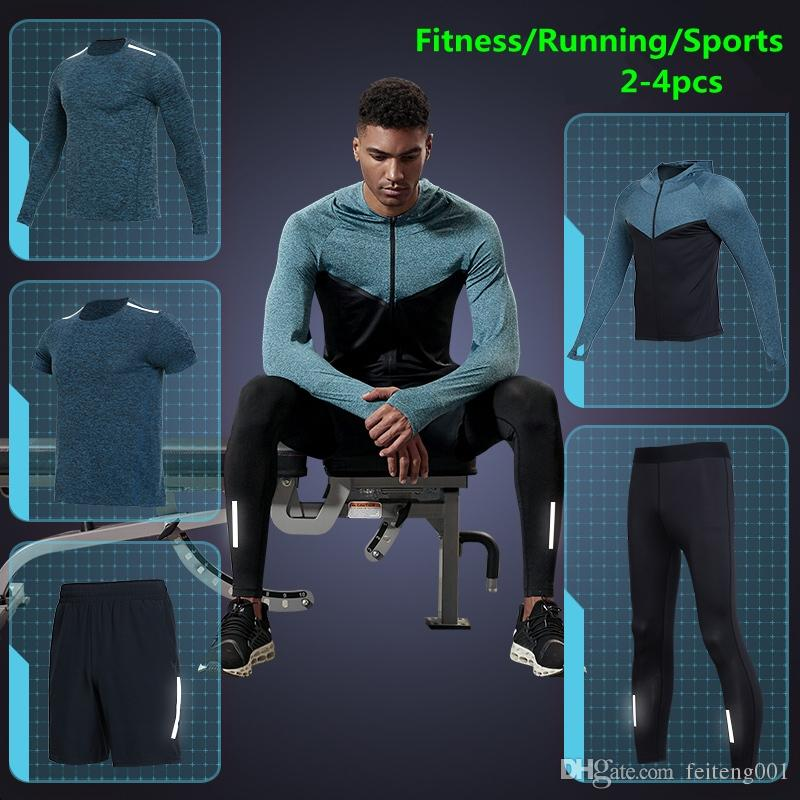 Running Sports & Entertainment Popular Brand Vansydical Mens Sport Suit 4pcs Fitness Sportswear Basketball Soccer Jersey Quick Dry Tracksuits Running Set Jogging Suits Men