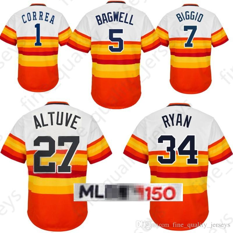 best service be3a8 7fa19 2 Alex Bregman 27 Jose Altuve Houston Jersey 4 George Astros Springer 1  Correa 34 Nolan Ryan 5 7 Craig Biggio