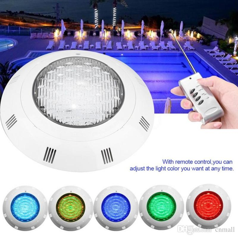 24 LED RGB Underwater Swimming Pool Light Multi-Color 12V 24W RGB Remote  Controller Outdoor Lighting aterproof Underwater Lamp