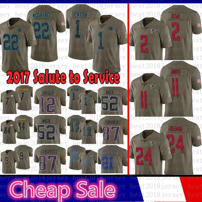 2019 2 Matt Ryan Atlanta 2017 Salute To Service Falcons Jersey 11 Julio  Jones 24 Freeman Carolina 22 Panthers Christian McCaffrey 1 Cam Newton From  ... ee81315fa
