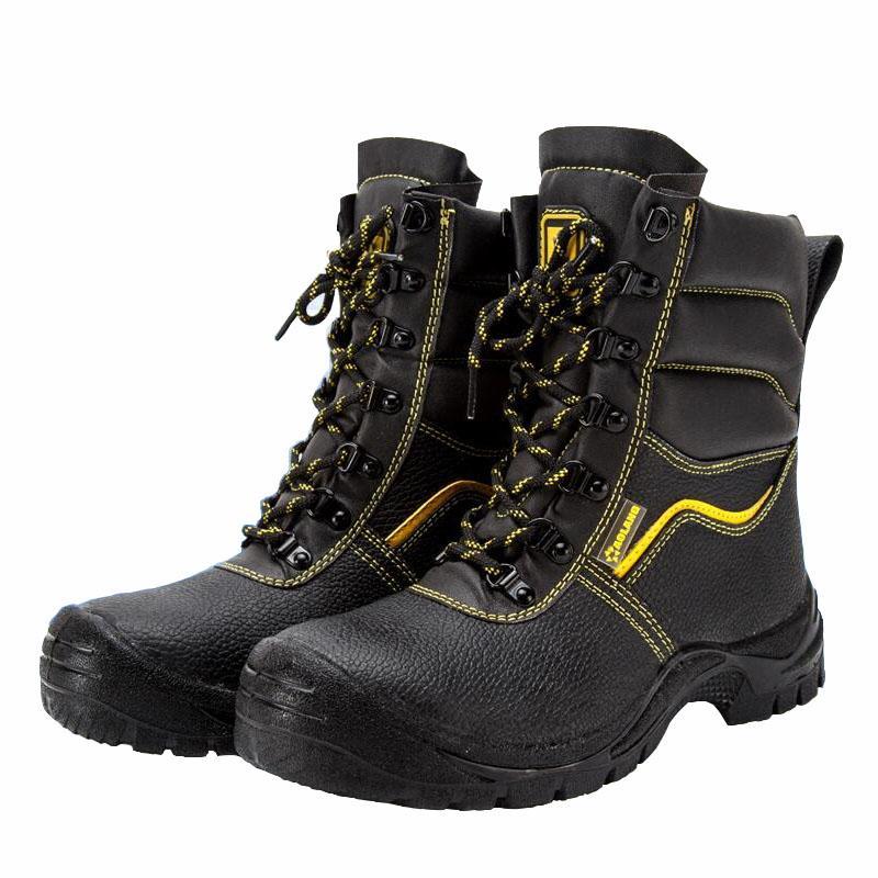 2bbbfc94c7 Compre Novos Homens Da Moda Tamanho Grande Biqueira De Aço De Segurança De  Trabalho Sapatos De Algodão Genuíno Couro Quente Pele Segurança Inverno  Neve ...