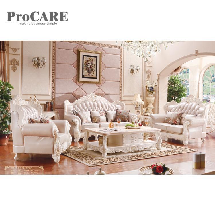 Sala De Estar De Couro De Luxo Design Moderno Sofa Secional A951b