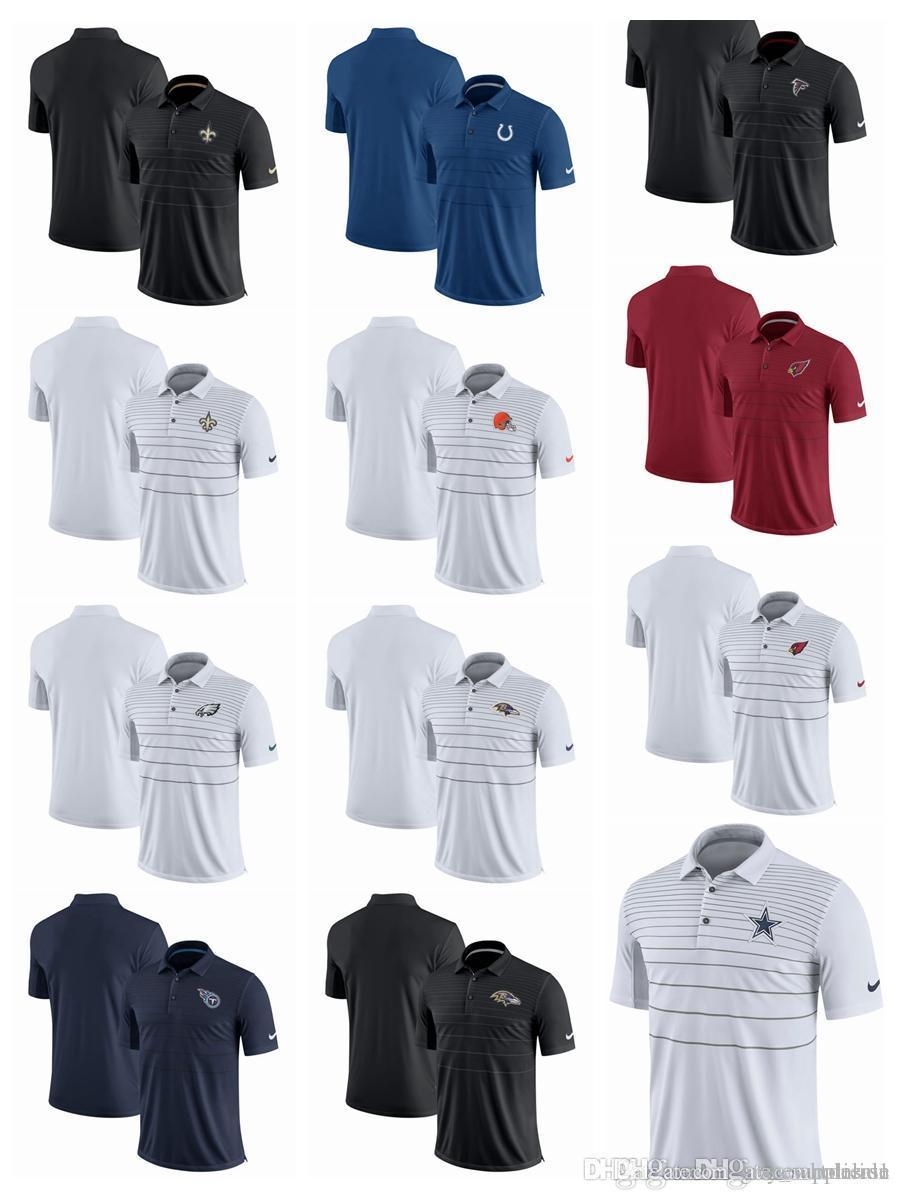 2018 Men Polo Shirts Colts Falcons Saints Titans Ravens Cardinals ... f5c308903