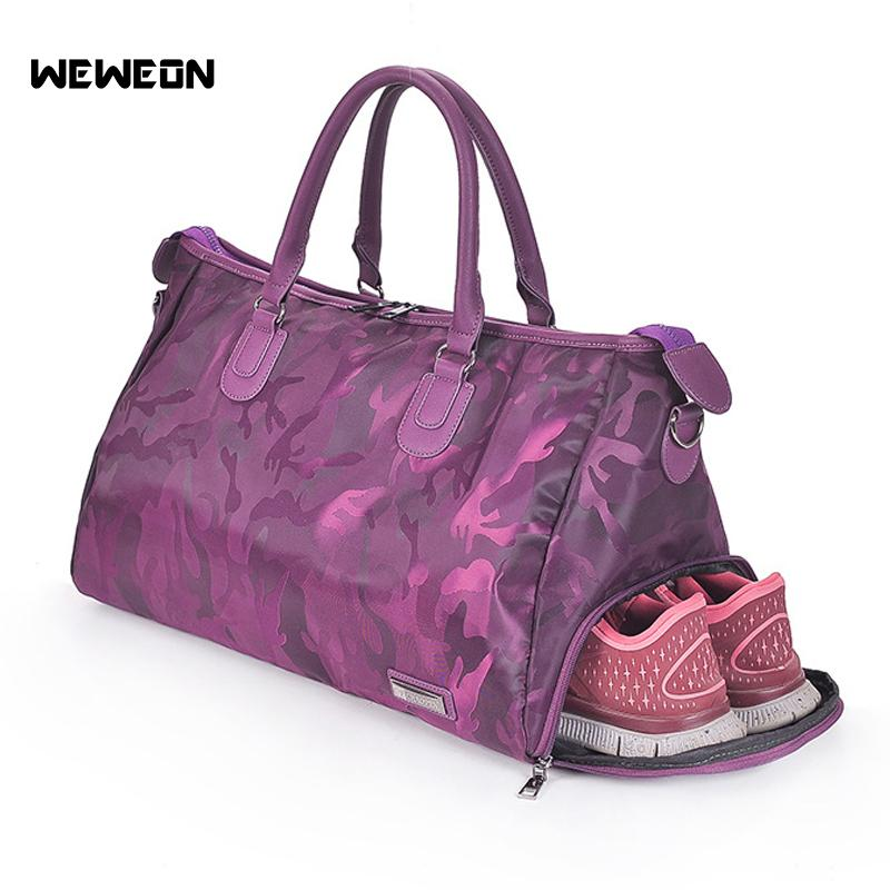 1a8da752020d 2019 New Designer Camouflage Women S Sport Gym Bags For Fitness M  Waterproof Nylon Luggage Travel With Shoe Pocket Sac De Sport From  Ekuanfeng