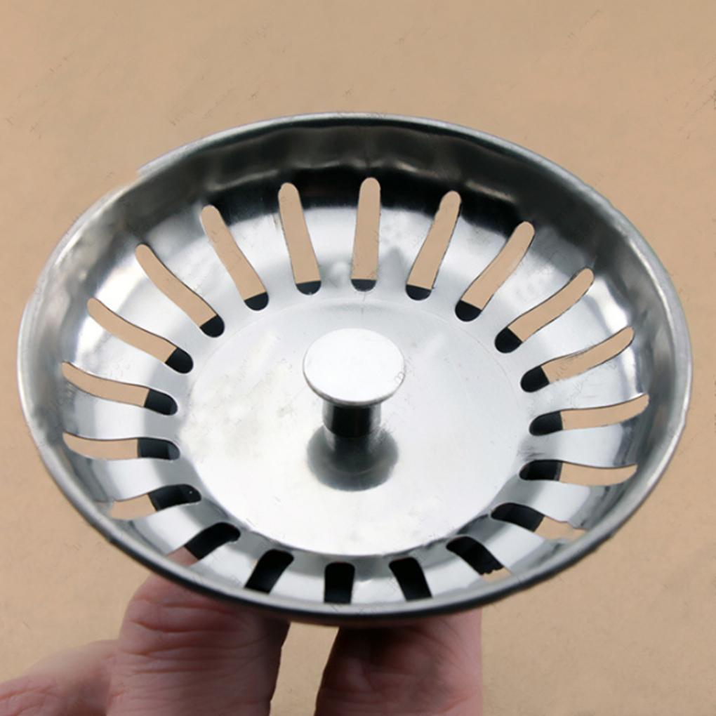 1pcs Stainless Steel Kitchen Sink Strainer Plug Waste Plug Filter Stopper Cover