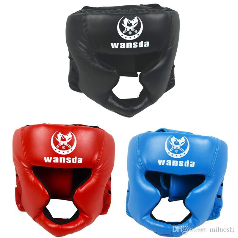 Free shipping RED/BLACK Closed type boxing head guard/Sparring helmet/MMA/Muay Thai kickboxing brace/Head protection