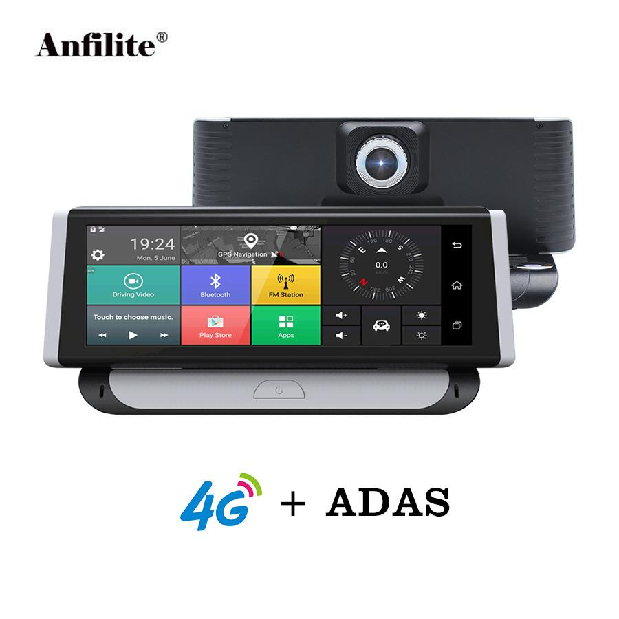 "Anfilite Car DVR 4G ADAS GPS Navigation Full HD 1080P 6.86"" Android 5.1 Dashcam Video Recorder Dual Lens Touch Screen Camera"
