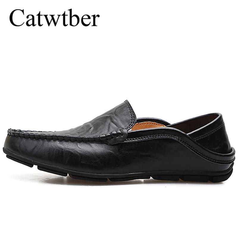 caea369bd65 Catwtber Breathable Brand Loafers Men Leather Warm Casual Shoes High  Quality Adult Slip on Moccasins Men Sneakers Male Driving Online with   73.44 Pair on ...